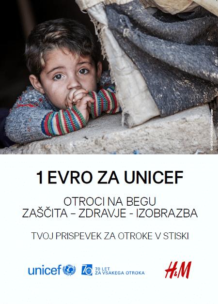 UNICEF in HM združila moči za otroke na begu