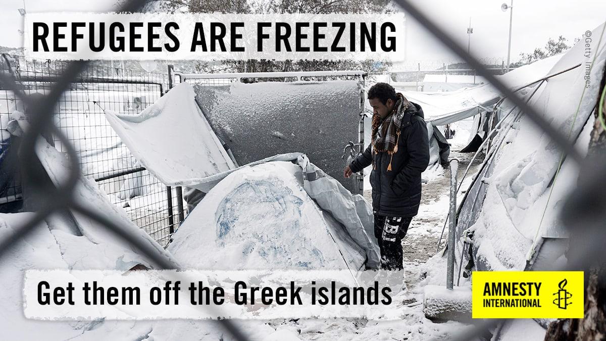Apel Junckerju za preselitev beguncev z grških otokov