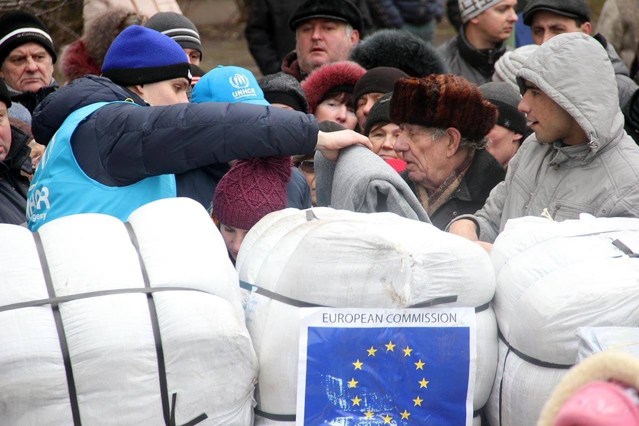 V hudi zimi v Ukrajini prebivalci potrebujejo pomoč
