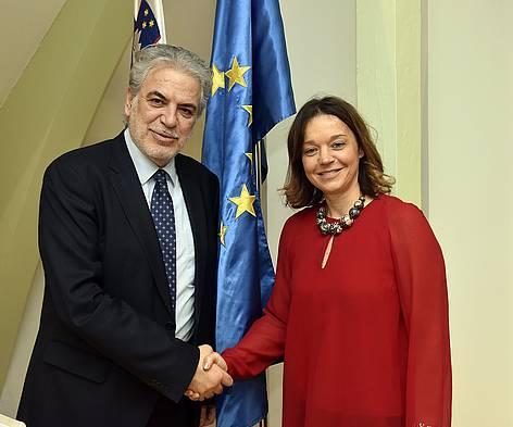 Dvostransko srečanje z evropskim komisarjem Stylianidesom