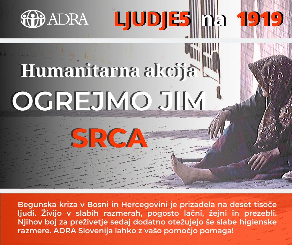 ADRA Slovenija zbira pomoč za begunski center Ušivak – Hadžići
