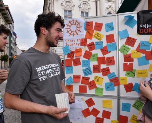 Akcija ozaveščanja Kaj je dom? Vir: Slovenska karitas