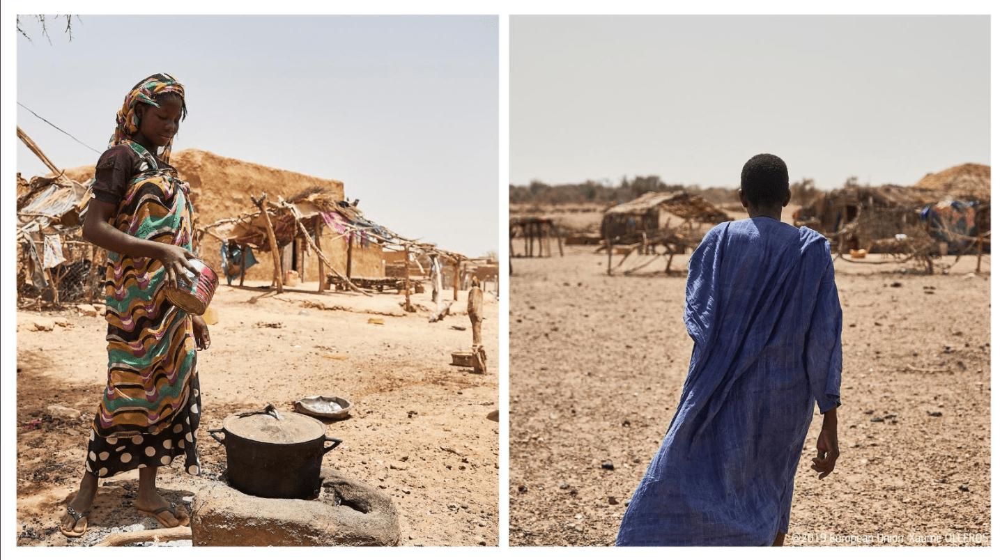 Življenje mnogih v državah Sahela in Srednje Afrike pestijo konflikti, revščina, podnebne spremembe, ponavljajoče se prehrambene krize. Vir: Twitter