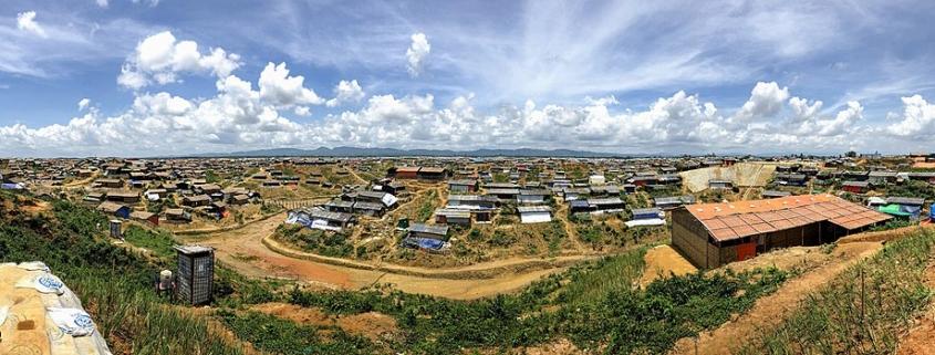 Cox Bazar, begunsko taborišče Rohing v Bangladešu. Vir: Wikimedia Commons