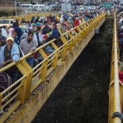Venezuelski begunci leta 2018 na meji z Ekvadorjem. Foto ©UNICEF/ECU